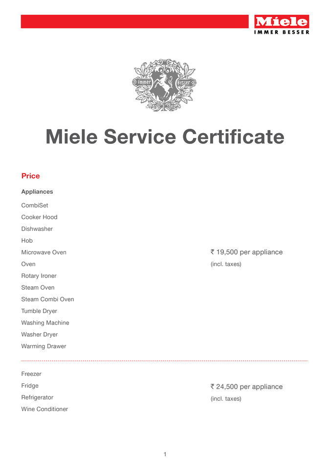 Miele Washing Machine Repairs >> Extended warranty