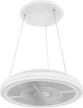 DA 7078 D Aura 3.0 White Loom - Island cooker hood special suspension with discreet cables and integrated power supply. --NO_COLOR